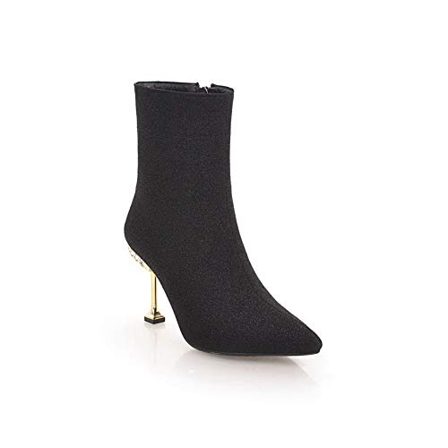 ef0a5b6eae AdeeSu Womens Spikes Stilettos Pointed-Toe Unique Platform Imitated Suede  Rain Boots SXC03945
