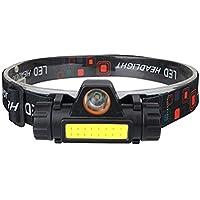 Laoonl Hoofdlamp, led-hoofdlamp, oplaadbaar, USB, krachtig, verstelbaar en licht, waterdicht voor hardlopen, kamperen…