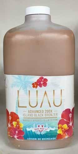 Luau 200X Bronzer Tanning Lotion 64 oz with Pump
