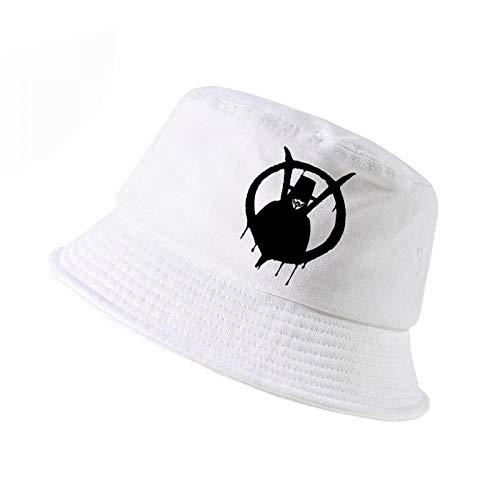 V For Vendetta Hat Type (New K Pop Fashion V for Vendetta Classic Movie Hat Men Women Bucket Hat Outdoor Hunting)