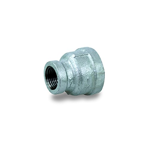 """Everflow GMRC0342 3/4 X 3/8"""" Galvanized Malleable Iron Reducing Coupling"""