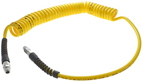 8 2.5 m Total Length 8 mm Hose ID Yellow 8 140 psi Working Pressure Advanced Technology Products TT-12-2.5-Y-RR Technithane Spiral Tubing NPT Rigid Fittings