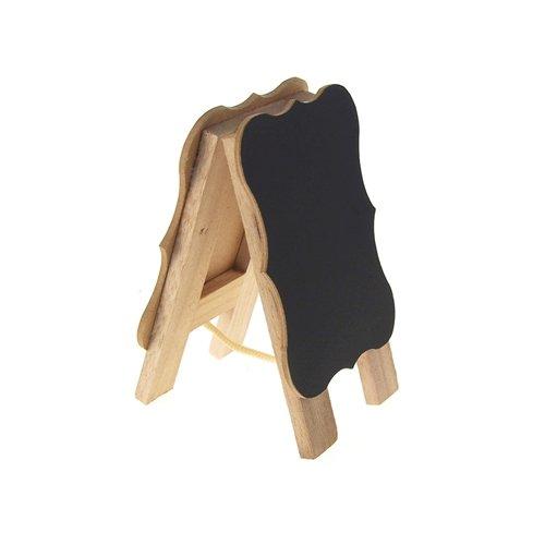 Homeford Firefly Imports Mini Chalkboard Wood Easel, Bracket, 6-Inch, 6