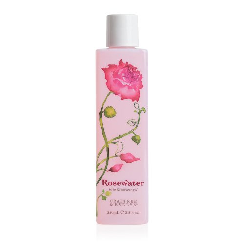 Crabtree & Evelyn Bath and Shower Gel, Rosewater, 8.5 fl. oz.