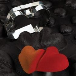 Sasa Demarle Flexipan® - Interlacing Hearts 4.75 x 4.33'' (120 x 113 mm) - 18'' x 26'' (400 x 600 mm) - 8 indents
