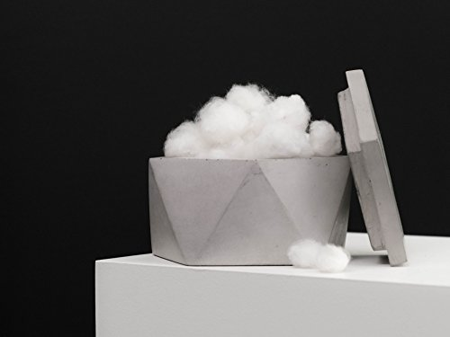 Concrete Container with Lid | Salt Cellar | Lidded Container | Geometric Concrete | Concrete ()