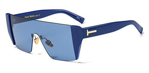 W Cerco Sol Sobredimensionado LEN Azul Grande azul Gafas Hembra Cuadrada Solsin Sol Gafas Len Gafas C9 De Hombre De Blue con Hembra azul De Limotai C9 qx8tXTwx