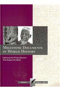 Books : Milestone Documents in World History, Volume 1