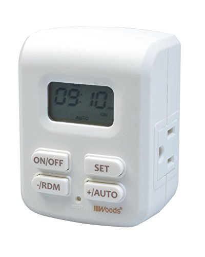Woods 50029WD Indoor Plug-In Astronomical Timer, 2 Grounded Outlets