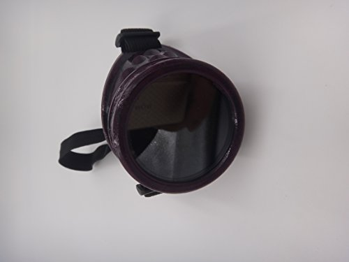 Purple Eyepatch with Glack Lens for the Left - Goggles Steampunk Purple