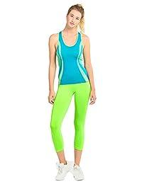 2 leggings de cintura elástica para dama, talla única, super elástico, para yoga, yoga, capris