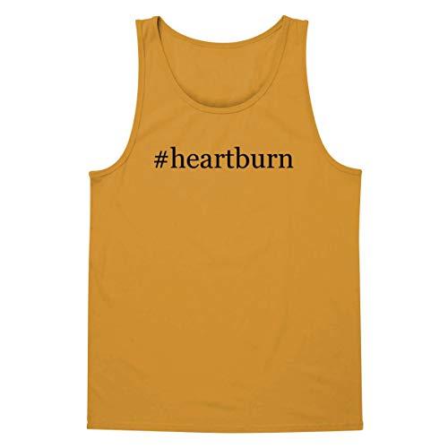 The Town Butler #Heartburn - A Soft & Comfortable Hashtag Men's Tank Top, Gold, X-Large