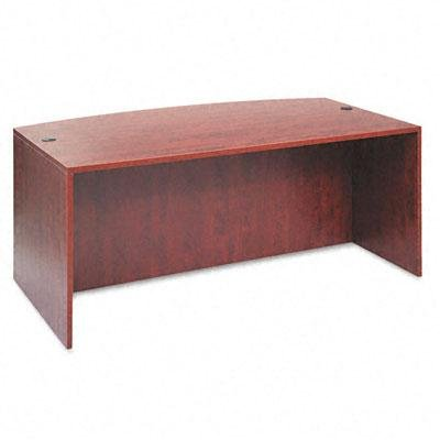 Alera - Valencia Bow Front Desk Shell 71W X 35-1/2D To 41-3/8D X 29-1/2H Medium Cherry ''Product Category: Office Furniture/Desks''