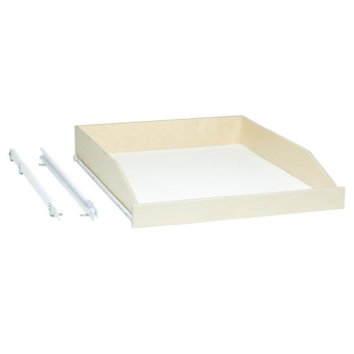 "Shelves That Slide - Slide-A-Shelf SAS-STD-L-B, Made-To-Fit Slide-out shelf, 3/4 Extension, 6"" to 36"" wide and 16 3/4"