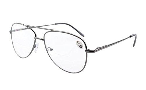 piloto 2 0 clear lentes clear de con lectura policarbonato Gafas bifocal estilo bisagras Eyekepper de resorte lentes 6HvgqgwZ