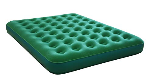 Aria Queen Plush Top Inflatable Mattress with Powerful Built-in Battery Pump – Portable Inflatable Air Bed for Camping, Travel and Guests