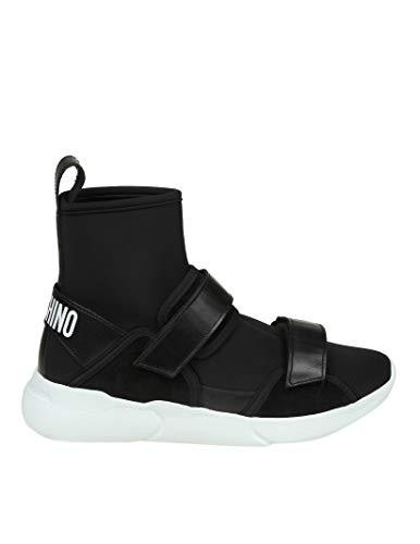 Moschino Mujer MA15084G16MG100A Negro Tela Zapatillas Altas