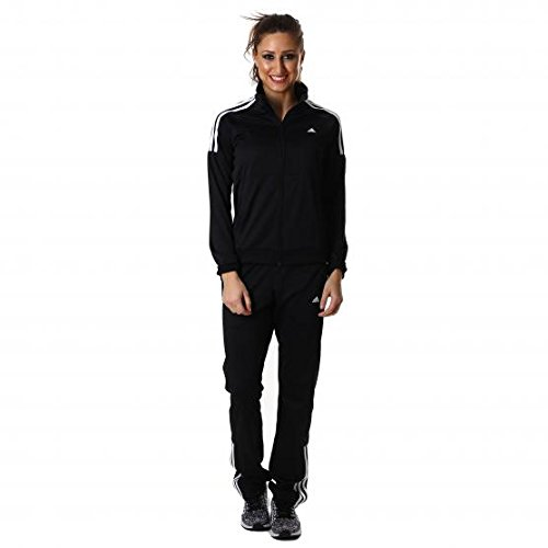 adidas Damen Trainingsanzug Frieda Suit, Schwarz/Weiβ, XL, 4055343576497