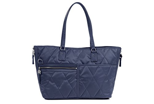 Danzo diaper bags Lexington, Light Navy with Neon Green Interior Lexington Diaper Bag