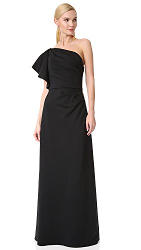 monique-lhuillier-bridesmaids-womens-one-shoulder-gown-black-0