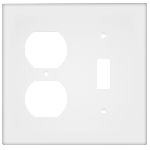 ENERLITES Combination Toggle Light Switch/Duplex Receptacle Outlet Wall Plate, Size 2-Gang 4.50