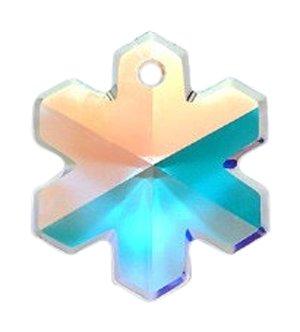 e78f0bb20d0be Amazon.com: Swarovski 6704 Snowflakes Beads, Aurora Borealis ...