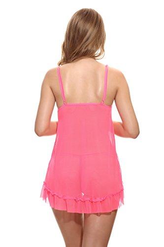 Camicia rossa Cardigan Neck Pizzo Donne Bretelle Con Rosa XXL Lingerie Bar PALMFOX Anteriore Plus Halter Moda Cinghie 2018 Size wqn0OTP