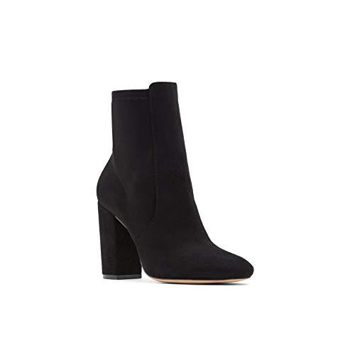 Aldo Women's Dress Ankle Boots Aurella, Black Micro, 8 (Dress Up Women Boots)
