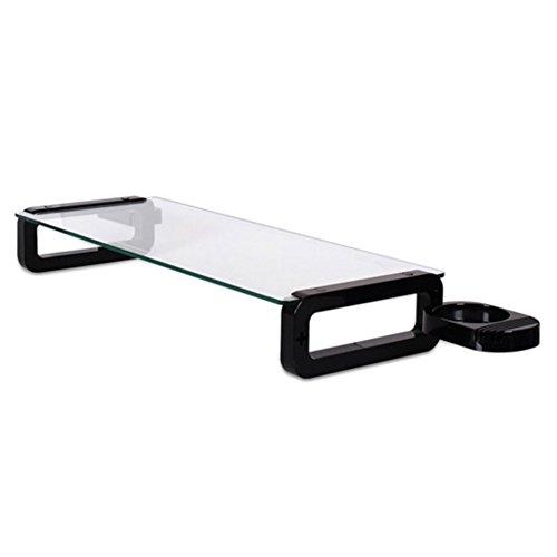 Sunnone UBOARD SMART 3.0 - Tempered Glass Monitor Stand Shelf Built-in 3 x USB 3.0 Hub - Black by U-board (Image #2)