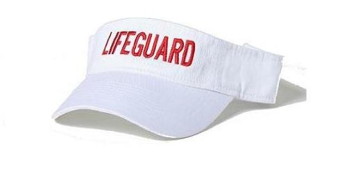 Lifeguard Master LIFEGUARD VISOR (Lifeguard White Hat)