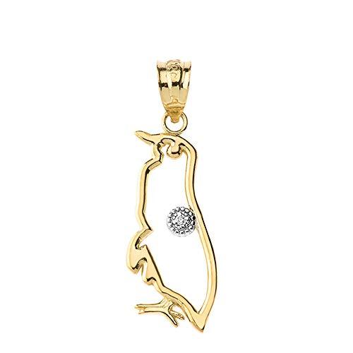 (Fine 14k Gold Solitaire Diamond Emperor Penguin Openwork Charm Pendant)