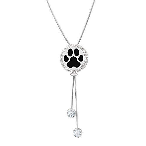 - Anavia Dog Paw Aromatherapy Jewelry Essential Oil Diffuser Necklace Adjustable Slider Necklace - Hypoallergenic 316L Surgical Grade Stainless Steel + 12 Washable Insert Pads for Mother's Day Gift