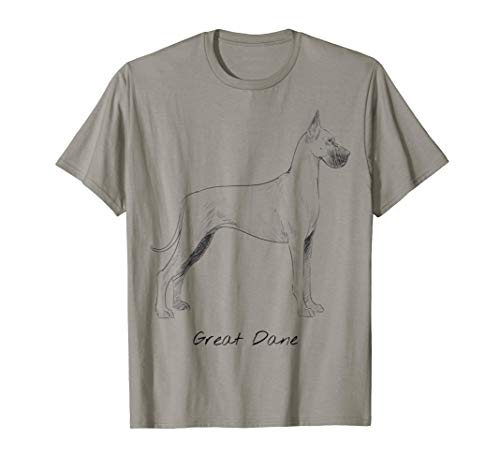 Great Dane Dog Sketch Shirt