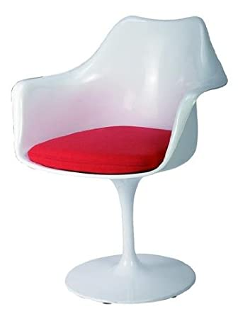 com dp fabric lippa tulip chairs with side chair in modway dining red modern cushion amazon