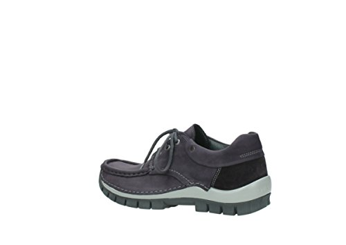 Wolky 50600 oiled grey nubuck purple Women's Pichu rZPUngr
