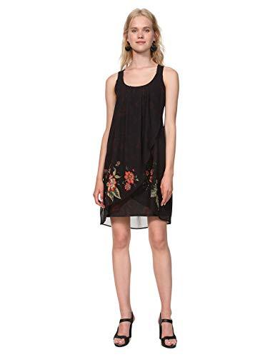 negro Donna Woman Nero Desigual Vestito Dress Straps Julie 2000 Black gqgBR18x