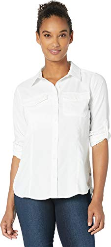Expedition S/s Shirt - Royal Robbins Women's Expedition Dry Long Sleeve Top, White, Large