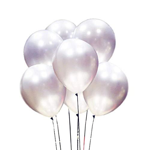 AZOWA Silver Latex Balloons 12 inch Party Balloon