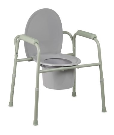 Deluxe All In One Steel (McKesson Deluxe All-In-One Steel-Welded Commode with 12 QT Bucket - 1 Each / Each - 15643304)