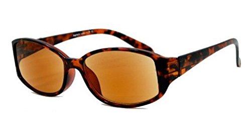 Stylish Eyes - Full Reader Outdoor Reading Sunglasses NOT Bifocals -Tortoise - Lens Reading Sunglasses Womens Full