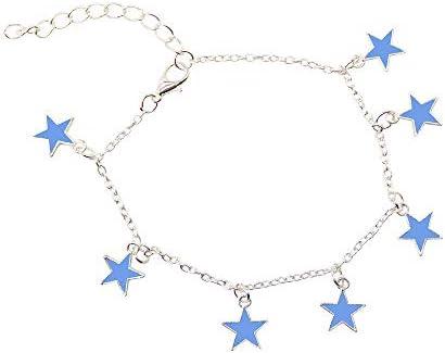 [해외]Tsuyumi 구두 야 광 발목 액세서리 풀장 하늘색 보석 여성여자연인을 위한 선물 생일 발렌타인 데이 크리스마스 선물 / Tsuyumi Ankle Accessories Resort Mood Light Blue Jewelry Ladies  Girls  Lover Gifts Birthday Valentine Christmas Gifts