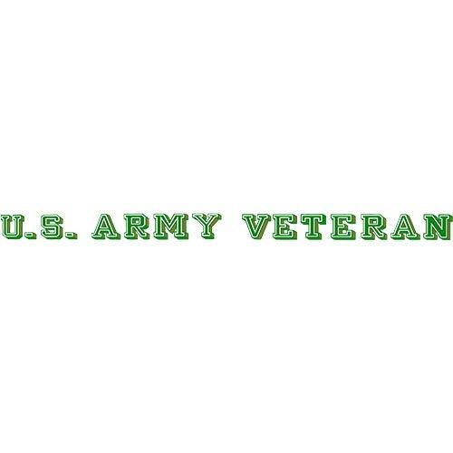 Army Veteran Sticker - U.S. Army Veteran Clear Window Strip