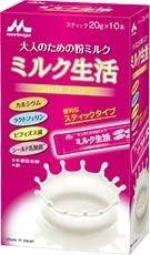 森永乳業 ミルク生活 スティックタイプ 箱 10本×12個入