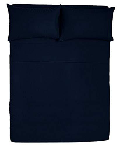 Angel Bedding Queen Size Sleeper Sofa Sheet Set (62 x 74 + 5 Inch Deep) – Solid Navy Blue 1800 Series Brushed Microfiber