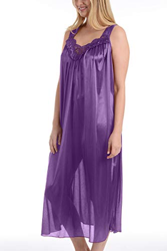 Ezi Women's Satin Silk Sleeveless Lingerie ()