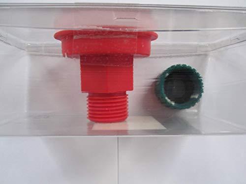 RIDGID Wet/Dry Vac Hose to Drain Adapter and Cap