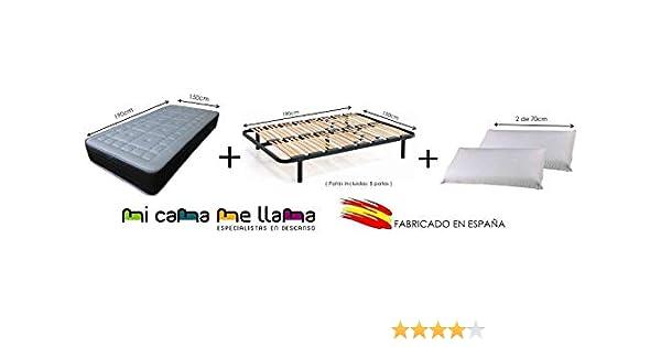 Dulces Sueños Pack COLCHON VISCOELASTICO Premium + SOMIER + Patas + 2 Almohadas VISCO(70) (150 x 190) PROMOCIÓN: Amazon.es: Hogar