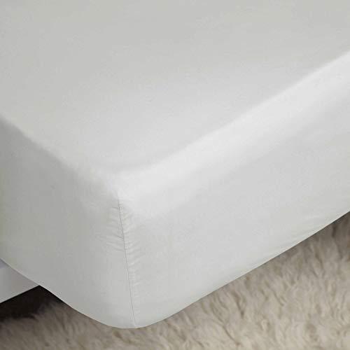 Belledorm 100% Cotton Sateen Extra Deep Fitted Sheet (Queen) (Ivory)