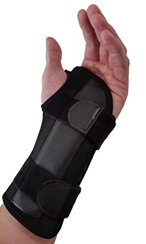 Wrist And Forearm Pain - Carpal Tunnel Wrist Brace Night Support - Wrist Splint Arm Stabilizer & Hand Brace for Carpal Tunnel Syndrome Pain Relief with Compression Sleeve for Forearm or Wrist Tendonitis Pain Treatment (Left)