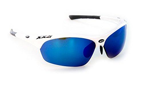 XX2i Optics Men's and Women's FRANCE1 Sunglasses with 2 additional lenses White - Sunglasses Xx2i